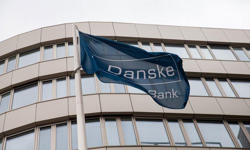 """Danske bank"" vėliava. Juditos Grigelytės (VŽ) nuotr."