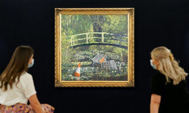 """""""Sotheby's"""" aukcione – vėl Banksy, vėl už milijonus"""
