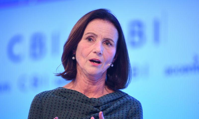 """Britanijos pramonės konfederacijos vadovė Dame Carolyn Fairbairn. Stefan Rousseau (""""PA Images""""/""""Scanpix"""") nuotr."""