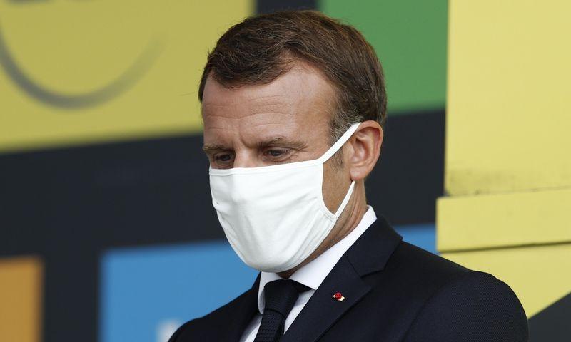 "Prezidentas Emmanuelis Macronas. Benoit Tessier (""Reuters""/""Scanpix"") nuotr."