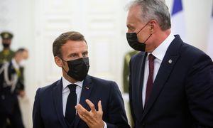 Lietuvos ir Prancūzijos lyderiai sutaria: artimiausiu metu turi būti įvestos sankcijos Baltarusijos režimui