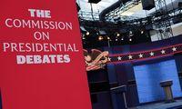 D. Trumpas ir J. Bidenas surems ietis pirmuosiuose rinkimų debatuose