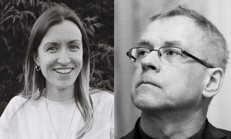 Ieva Toleikytė ir Alvydas Šlepikas. Kultūros ministerijos fotomontažas iš Edvino Valikonio (kairėje) ir Mariaus Morkevičiaus (ELTA) nuotr.