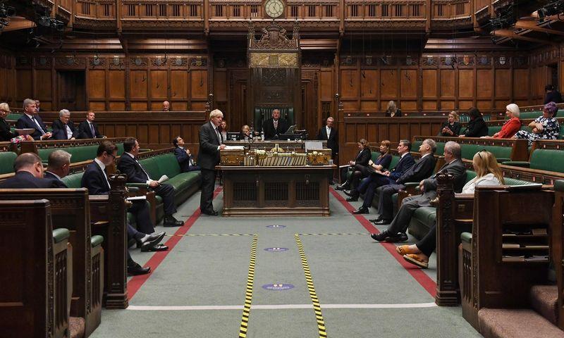 "Debatai JK Bendruomenių rūmuose. Jessica Taylor (AFP/""Scanpix"") nuotr."