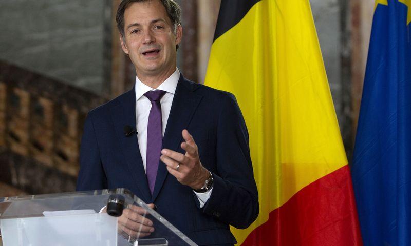 """Naujasis Belgijos premjeras Alexanderis De Croo. Virginios Mayo (AP / """"Scanpix"""") nuotr."""