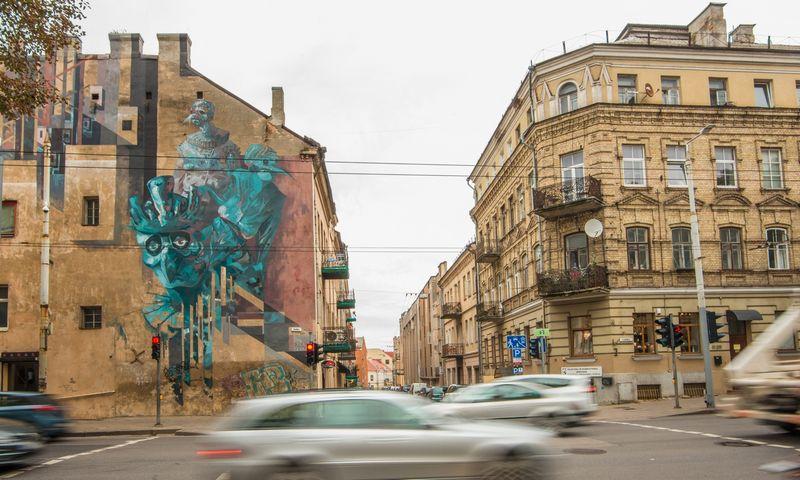 """Teatro festivalio """"Sirenos"""" audioturo objektas Šv. Stepono g. Vilniuje. Dainiaus Putino / """"Sirenų"""" nuotr."""