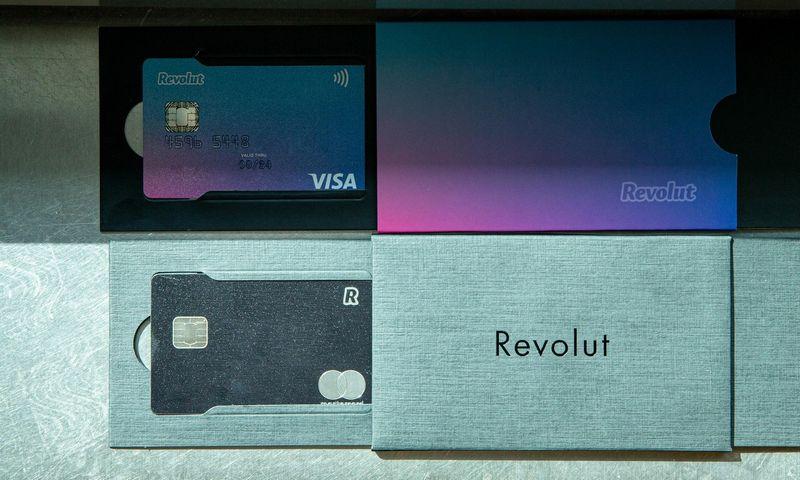 """Revolut"" banko kortelės. Juditos Grigelytės (VŽ) nuotr."