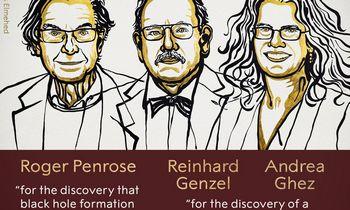 Nobelio fizikos premija – už juodosios skylės tyrinėjimus