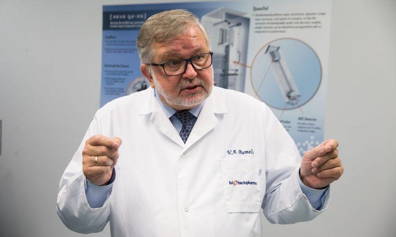 """Prof. Vladas Algirdas Bumelis, """"Northway Biotechpharma"""" valdybos pirmininkas. Vladimiro Ivanovo (VŽ) nuotr."""