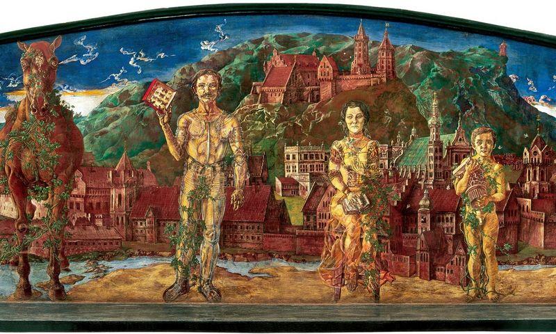 """Petras Repšys """"Atvaizdai pilies fone"""", 1974 m.,  fragmentas. LNM nuotr. ,"""