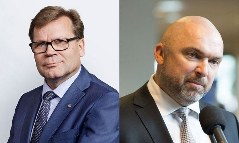 """Mikko Helanderis, """"Kesko"""" prezidentas ir Artūras Rakauskas, """"Kesko Senukai Lithuania"""" prezidentas. VŽ koliažas."""