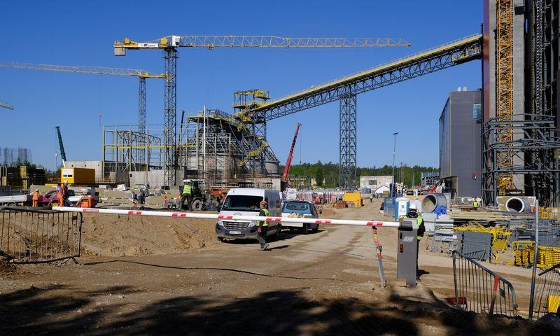 Vilniaus kogeneracinės jėgainės statyba. Vladimiro Ivanovo (VŽ) nuotr.