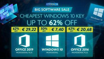 """Pigiau NEBUS: """"Windows 10 Pro"""" dabar tik 6,06€, """"Office 2016"""" už 20,68€ iš Godeal24.com!"""