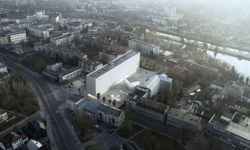 """S. Eidrigevičiaus menų centras, """"IMPLMNT Achitects"""" vizualizacija."""