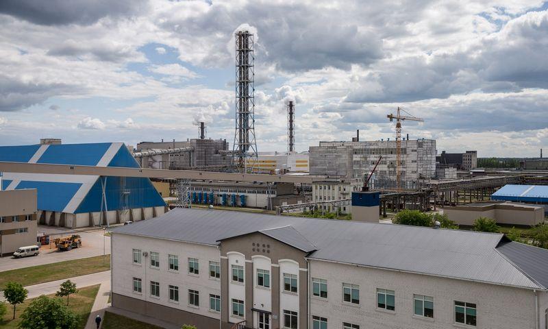 """Lietuvos azoto-fosforo trąšų gamintoja AB """"Lifosa"""" Kėdainiuose. Juditos Grigelytės (VŽ) nuotr."""