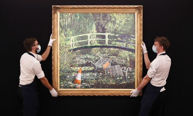 """Show me the Monet"". Jonathan Brady (""PA Images""/""Scanpix"") nuotr."