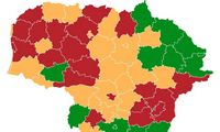 Vilnius, Kaunas ir Klaipėda įtraukti į raudonąją COVID-19 zoną