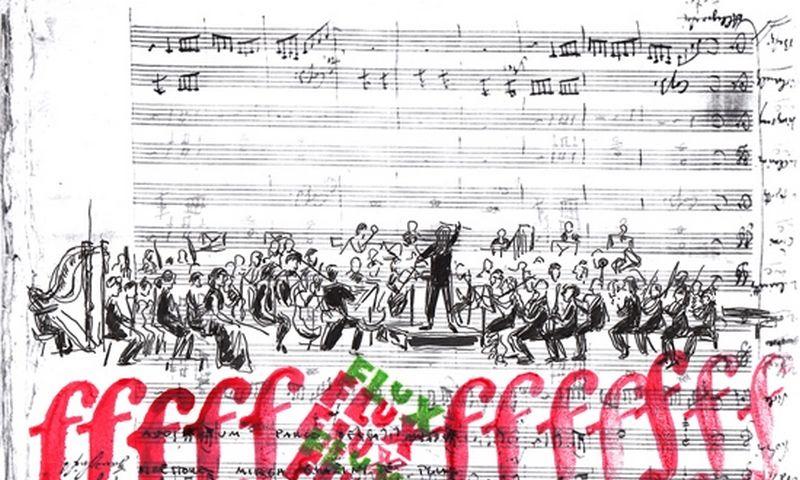 """Iš Medilės Šiaulytytės piešinių parodos. """"FLUX Festival Lituano delle arti"""" atidarymas. Mirga Gražinytė Tyla ir Orkestras Santa Cecilia. Roma 2018.05.04."""