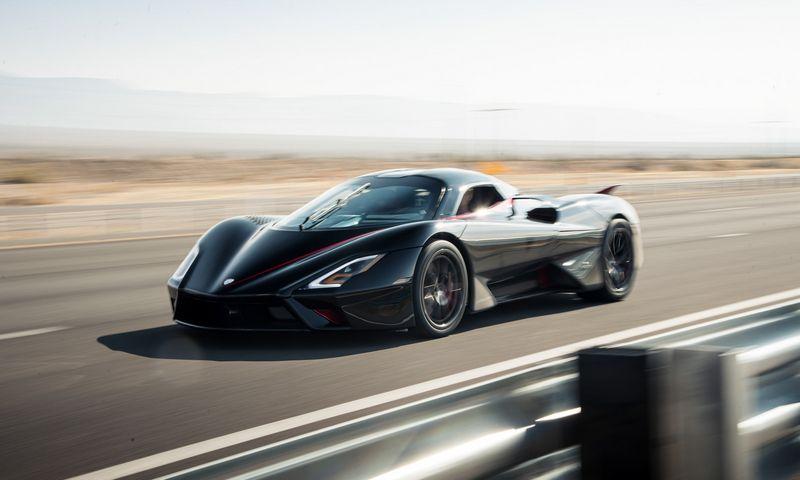 """""""SSC Tuatara"""" – greičiausias pasaulyje serijinis automobilis. """"SSC Notrh America"""" nuotr."""