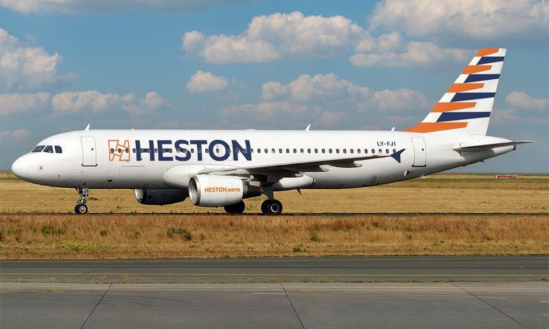 """""""Heston Airlines"""" lėktuvas. Įmonės nuotr."""