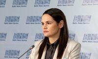 """S. Cichanouskaja kreipėsi į prisidėjusius prie """"nacionalinio streiko"""" Baltarusijoje"""