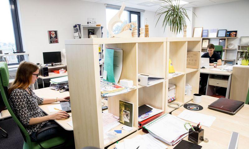 """IT sprendimų ir paslaugų UAB """"Atea"""" biuras Vilniuje. Juditos Grigelytės (VŽ) nuotr."""