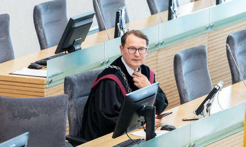 Konstitucinio teismo pirmininkas Dainius Žalimas. Juditos Grigelytės (VŽ) nuotr.