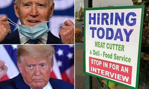 Pandemijos nualinta JAV darbo rinka laukiaišrinktojo prezidentosprendimų