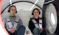 """""""Virgin Hyperloop"""" išbandė ateities transportą su keleiviais"""