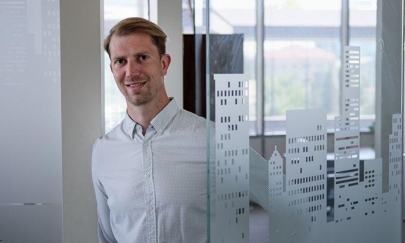 """Tomas Medeckis, sutelktinio NT finansavimo platformos """"Norsdstreet"""" marketingo direktorius. Vladimiro Ivanovo (VŽ) nuotr."""