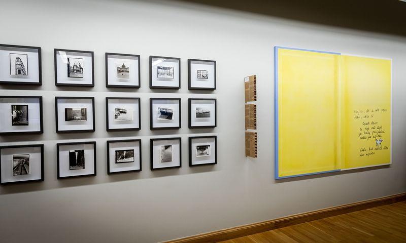 """Parodos """"Įminti Paryžių: VDA rezidencijos Cite Internationale des Arts istorijos"""" fragmentai. Gintarės Grigėnaitės nuotr."""