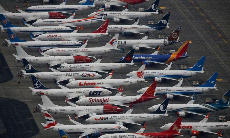 """20 mėnesių ant žemės stovėję šimtai 737 MAX lėktuvų vėl galės pakilti į orą. """"Reuters"""" / """"Scanpix"""" nuotr."""