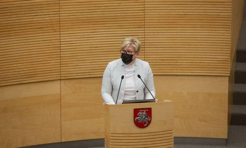 Seimui pateikta Ingridos Šimonytės kandidatūra į ministro pirmininko pareigas. Vladimiro Ivanovo (VŽ) nuotr.