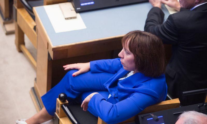 """Buvusi ministrė Mailis Peps. Raigo Pajula (AFP/""""Scanpix"""") nuotr."""