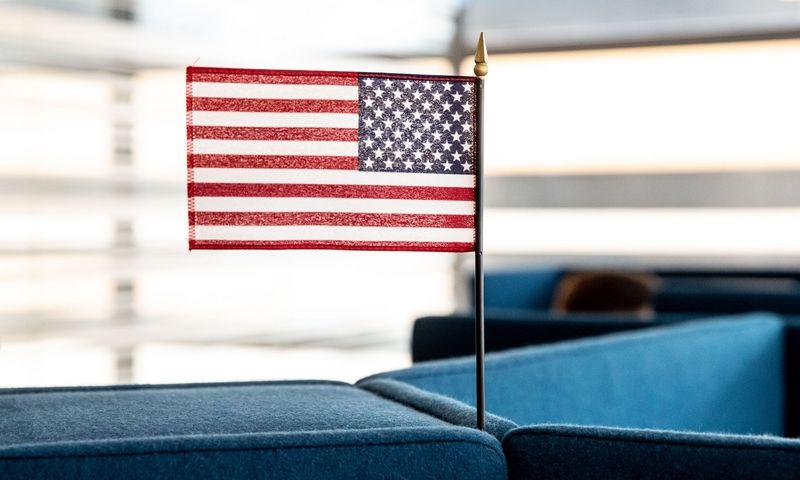 JAV vėliava. Juditos Grigelytės (VŽ) nuotr.