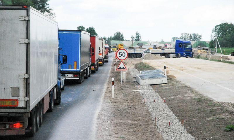 Kelio A5 Kaunas –Marijampolė–Suvalkai ruožo rekonstravimo darbai. Juditos Grigelytės (VŽ) nuotr.