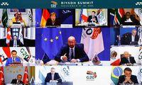 G20 lyderiai kalba apie bendrystę, bet ekspertai įspėja dėlskiepų nacionalizmo pavojaus