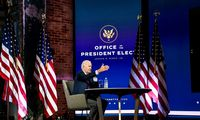 """J. Bidenas: rinkimai JAV baigėsi, laikas pradėti bendradarbiauti ir """"nedemonizuoti"""""""
