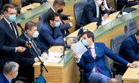 Izoliacija skirta 14 Seimo narių, pranešaNVSC