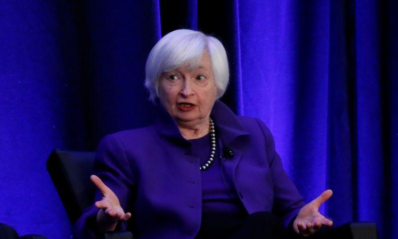 """Buvusi FED pirmininkė ir kandidatė į JAV Iždo sekretorės postą Janet Yellen Christopher Aluka Berry (""""Reuters"""" / """"Scanpix"""") nuotr."""