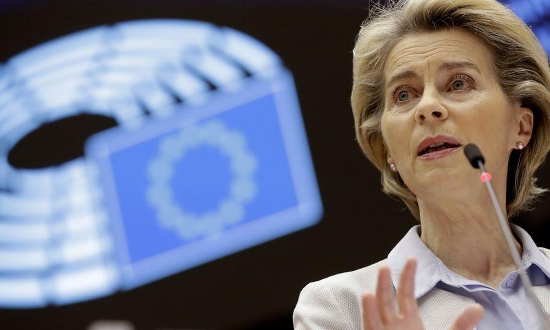 """Ursula von der Leyen. Olivier Hoslet (AP/""""Scanpix"""") nuotr."""