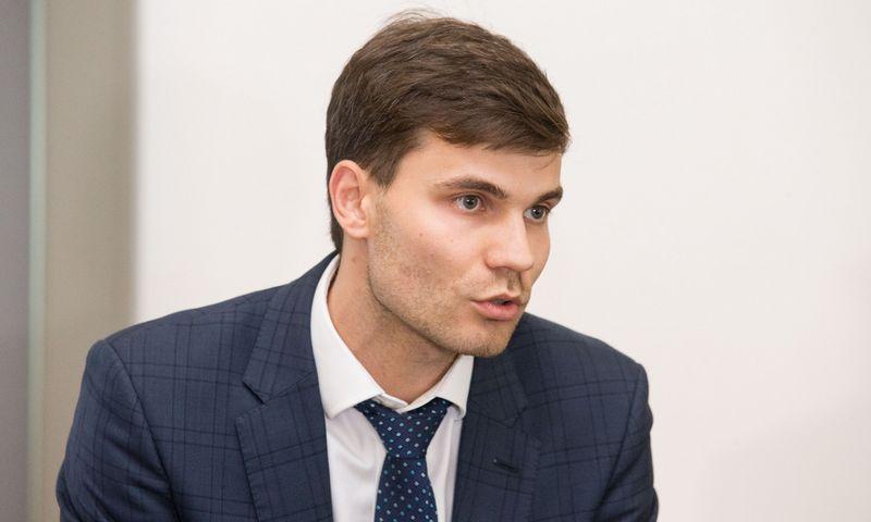 """""""BaltCap Infrastructure Fund"""" partneris Šarūnas Stepukonis.  Juditos Grigelytės (VŽ) nuotr."""