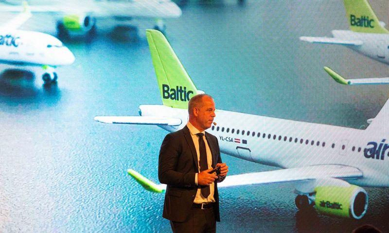 """Martinas Gaussas, """"AirBaltic"""" generalinis direktorius. Juditos Grigelytės (VŽ) nuotr."""