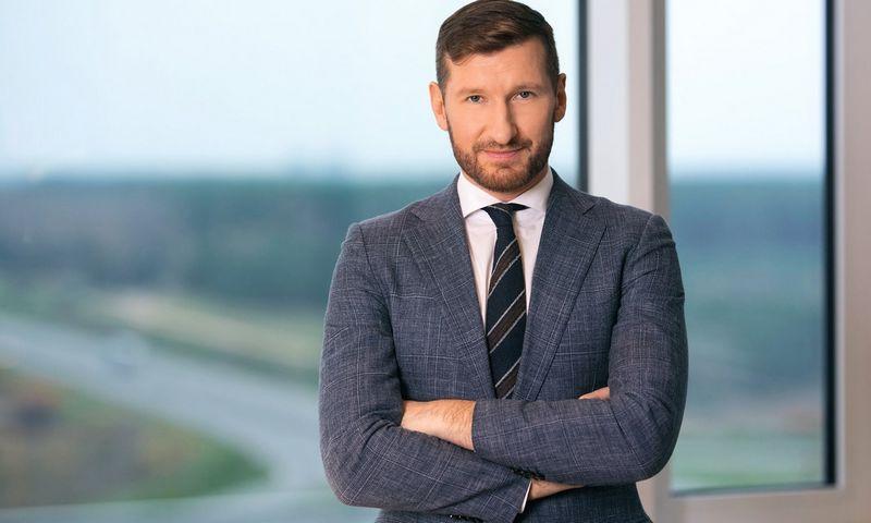 """Bendrovės """"Vilniaus vandenys"""" generalinis direktorius Marius Švaikauskas."""