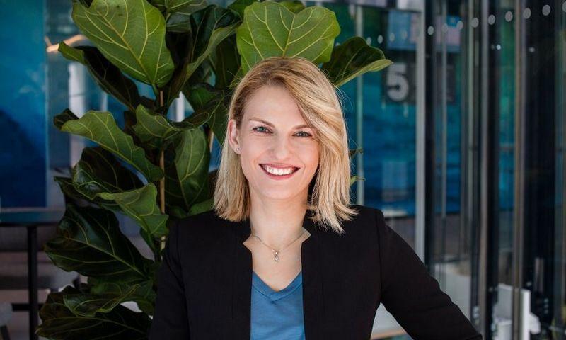 """Aistė Gataveckienė, """"Danske Bank"""" globalių paslaugų centro Lietuvoje vadovė, teigia, kad pokyčių komunikacija priklauso nuo jų masto, auditorijos ir nuo laukiamo rezultato. Bendrovės nuotr."""