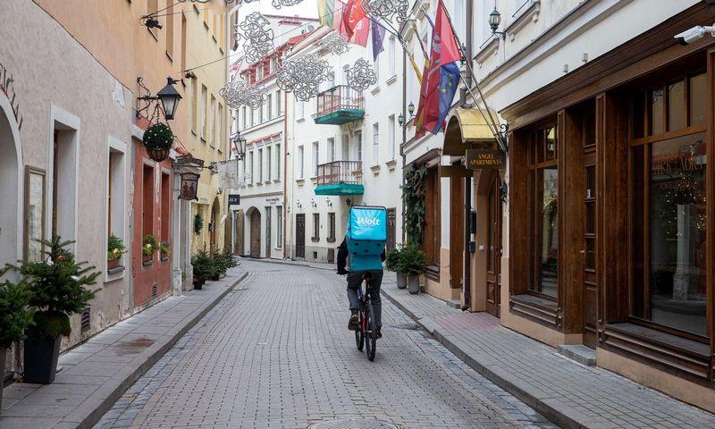 Vilniaus senamiesčio vaizdai antro karantino metu. Juditos Grigelytės (VŽ) nuotr.