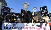 Prancūzai protestuoja prieš saugumo įstatymą ir policijos smurtą