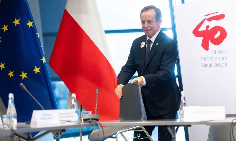 """Tomaszas Grodzkis, Lenkijos Senato pirmininkas. Mateuszo Slodkowskio (""""SOPA Images"""" / """"Scanpix"""") nuotr."""