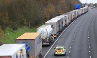 Prancūzai surengė JK pasitraukimo iš ES be susitarimo repeticiją – nusidriekė 8 km eilė