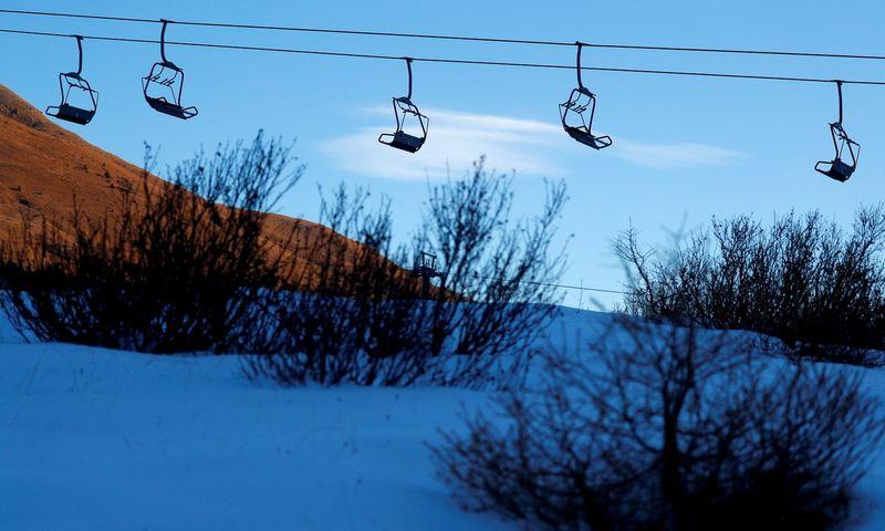 """Dolomitinės Alpės, Italija. 2020 m. lapkritis. Guglielmo Mangiapane (""""Reuters"""" / """"Scanpix"""") nuotr."""